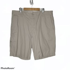 Dockers Khaki Tan Flat Front Walking Shorts 38